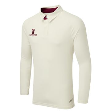 Image de TEK LONG SLEEVE CRICKET SHIRT - MAROON