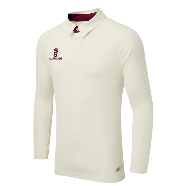 Bild von TEK LONG SLEEVE CRICKET SHIRT - MAROON