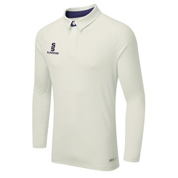Afbeeldingen van TEK LONG SLEEVE CRICKET SHIRT - NAVY