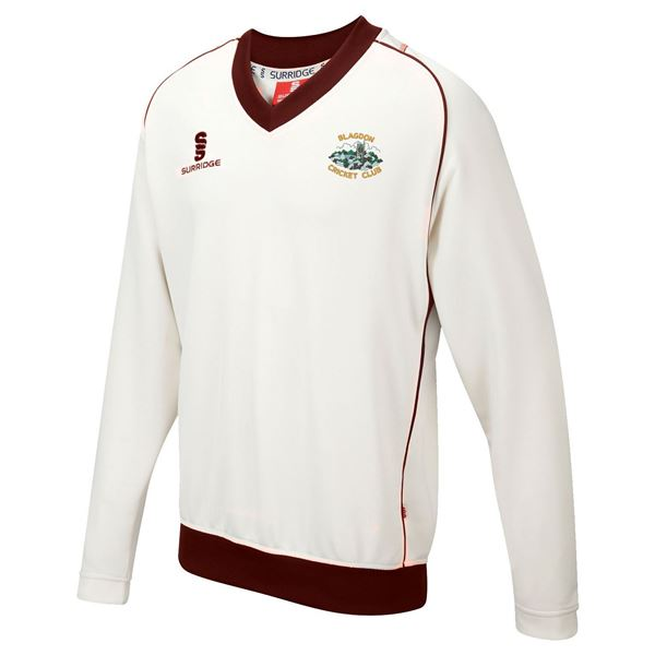 Image sur Blagdon CC Long Sleeved Cricket Sweater