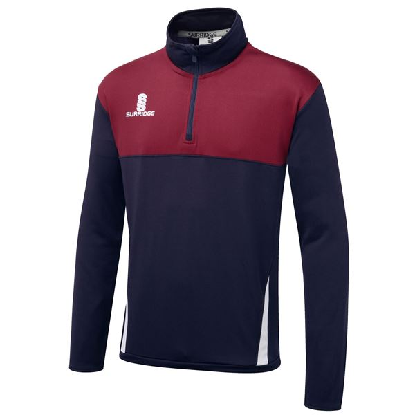 Image sur Blade Performance Top : Navy / Maroon / White