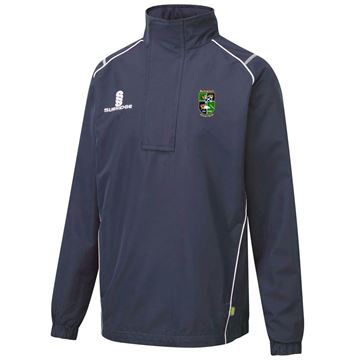 Picture of BOROUGHMUIR CRICKET CLUB CURVE 1/4 ZIP RAIN JACKET