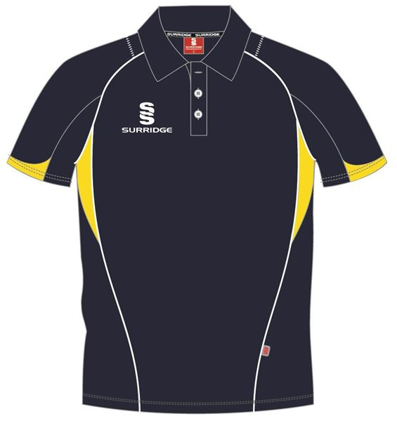 Picture of CURVE POLO SHIRT NAVY/YELLOW