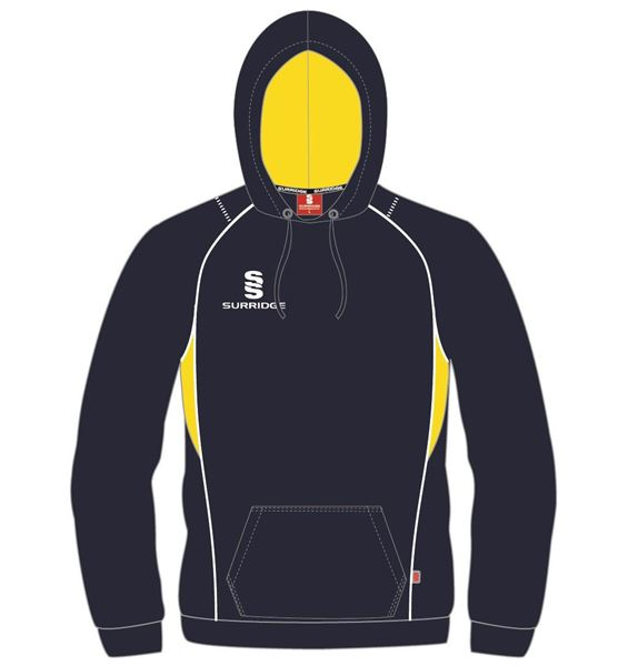 Image sur CURVE HOODY NAVY/YELLOW