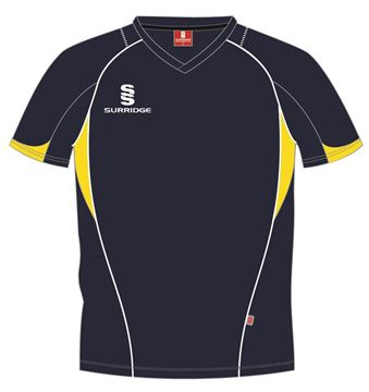 Picture of CURVE TRAINING SHIRT NAVY/YELLOW