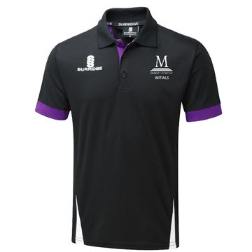 Imagen de Madeley Academy 6th Form - Blade Polo Shirt - Black Purple White