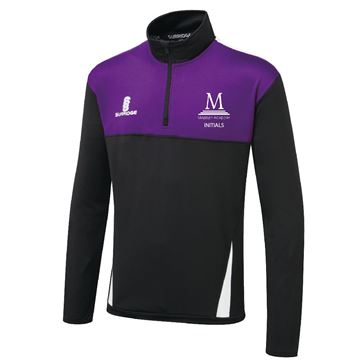Afbeeldingen van Madeley Academy 6th Form - Blade Performance Top - Black Purple White