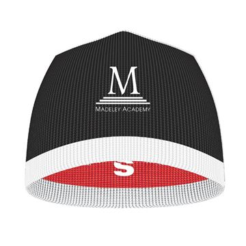 Imagen de Madeley Academy 6th Form - Reversible Beanie - Black - Red