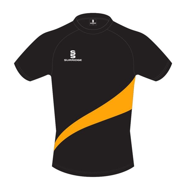 Picture of Training Shirt in Black with Amber Swoosh