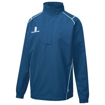 Afbeeldingen van Curve 1/4 Zip Rain Jacket - Royal/White