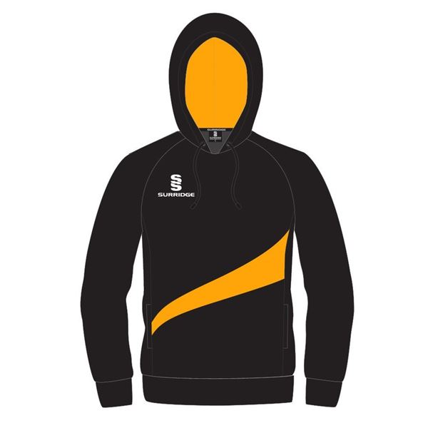 Picture of HOODY SHIRT IN BLACK WITH AMBER SWOOSH