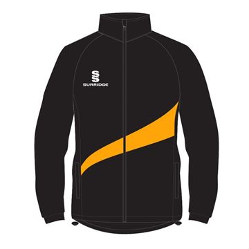 Picture of TRACK TOP  IN BLACK WITH AMBER SWOOSH