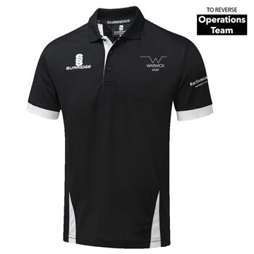 Picture of Warwick University - Blade Polo Shirt - Black/White