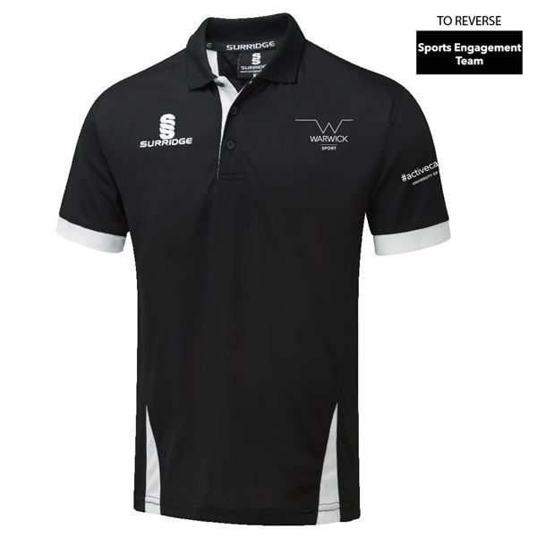 Image sur Warwick University - Blade Polo Shirt - Black/White