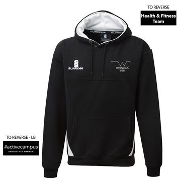 Picture of Warwick University  - Blade Hoody - Black/White