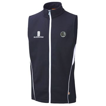 Picture of Haslingden Squash Club Shoft Shell Gilet - Navy