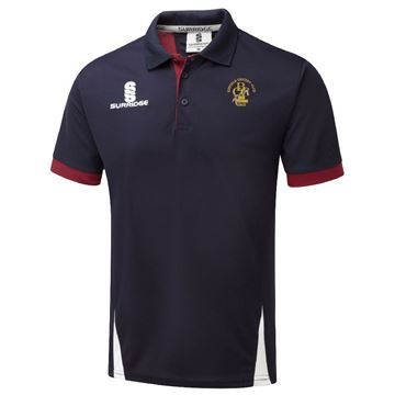 Picture of Binfield CC Blade Polo - Navy Maroon White