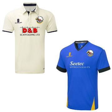 Picture of ESSEX BOYS U13 - S/S White playing Shirt and Blue Training Shirt Bundle