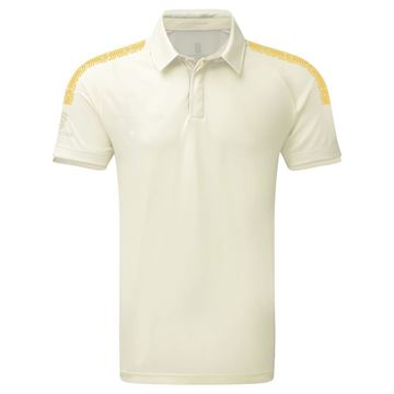 Afbeeldingen van Dual Cricket Shirt - Short Sleeve : Amber Trim