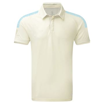 Picture of Dual Cricket Shirt - Short Sleeve : Sky Trim