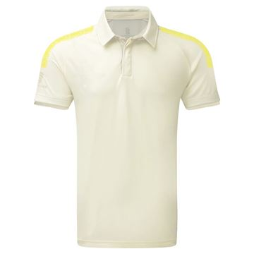 Picture of Dual Cricket Shirt - Short Sleeve : Yellow Trim