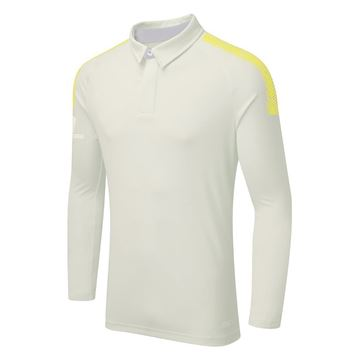 Image de DUAL LONG SLEEVE CRICKET SHIRT - Yellow