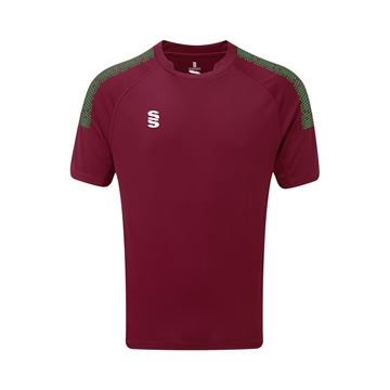 Picture of Dual Games Shirt - Maroon/Emerald