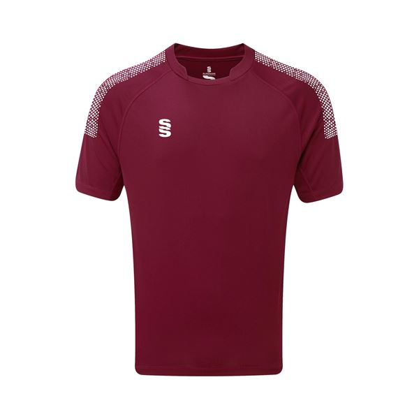 Picture of Dual Games Shirt - Maroon/White