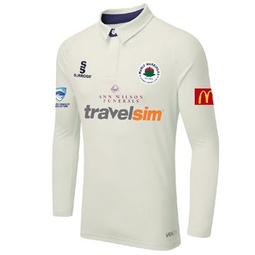 Picture of Manly Warringah - L/S Ergo Playing Shirt - White/Navy