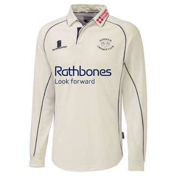 Picture of Slinfold CC Premier Cricket Shirt - L/S Sleeve - Navy Trim