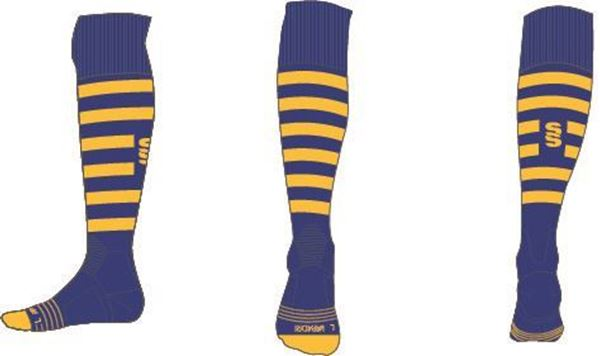 Picture of ROYAL/YELLOW SOCK
