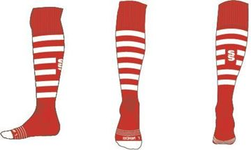 Image de RED/WHITE SOCK