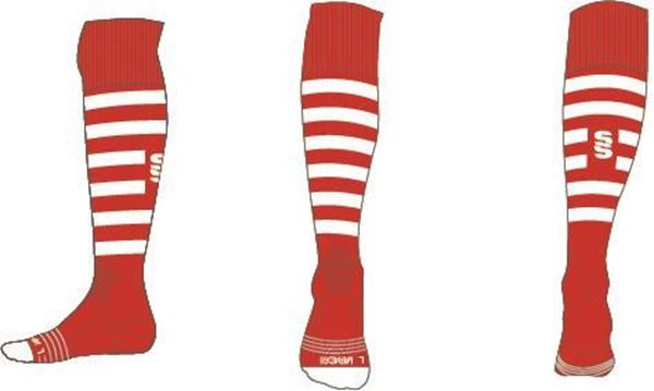 Picture of RED/WHITE SOCK