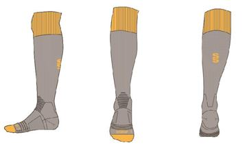 Image de GREY/YELLOW SOCK