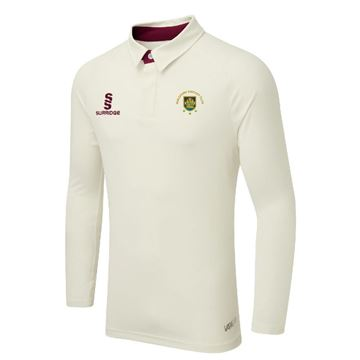 Image de Guildford CC Ergo Long Sleeve Maroon Trim Shirt