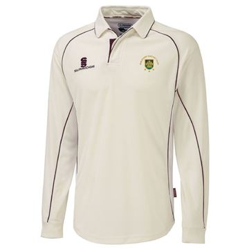Image de Guildford CC Premier Long Sleeve Maroon Trim Shirt