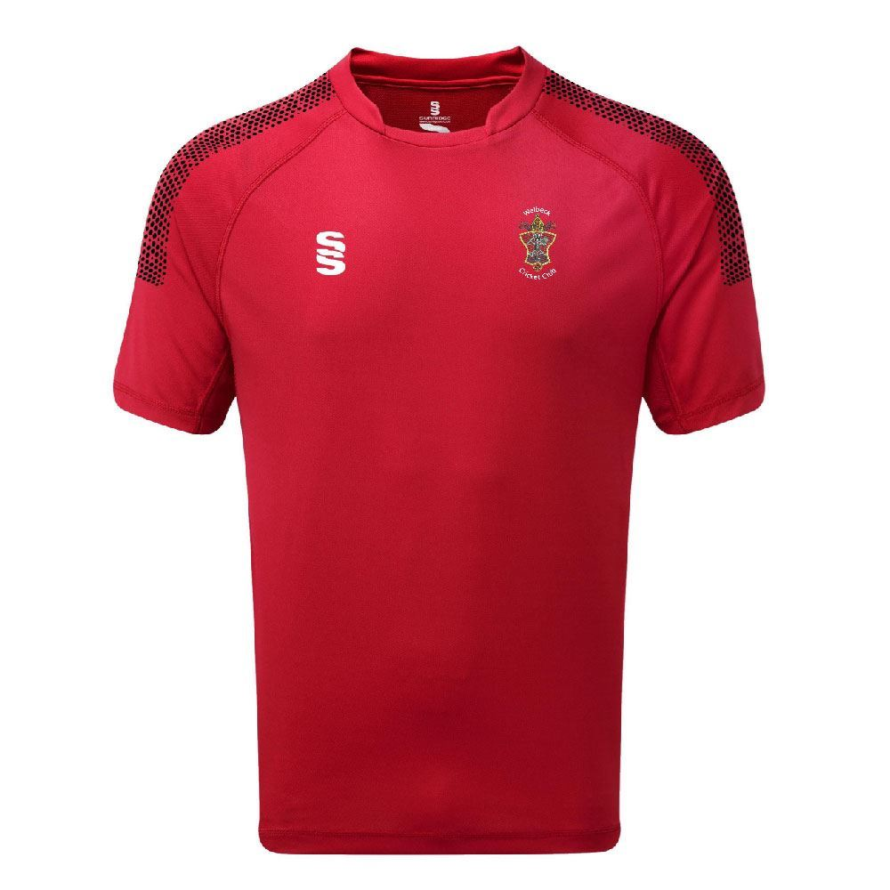 Welbeck Colliery CC Ladies Dual Shirt RED/BLK