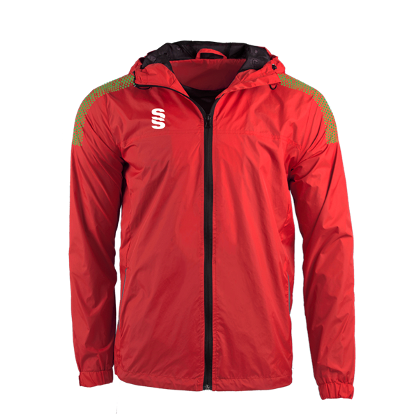 Picture of DUAL FULL ZIP TRAINING JACKET - RED/EMERALD