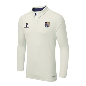 Picture of SOUTH SHORE CC ERGO LONG SLEEVE CRICKET SHIRT NAVY