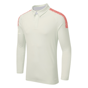Image de DUAL LONG SLEEVE CRICKET SHIRT - Red