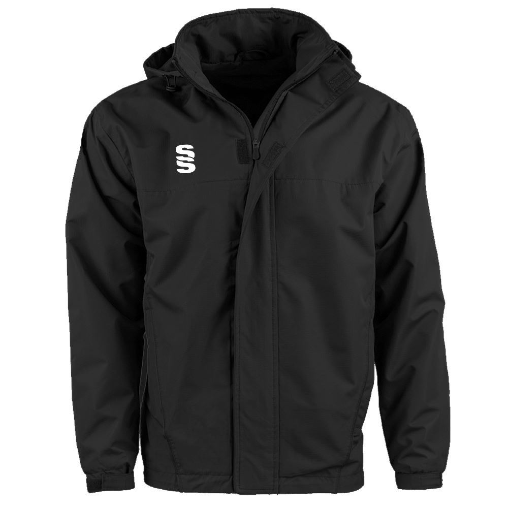 1323da8a8a0e7 Afbeelding van DUAL FLEECE LINED JACKET - BLACK. Coated showerproof ripstop  polyester material with ...
