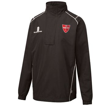 Picture of Hart Youth FC 1/4 Zip Rain Jacket Black