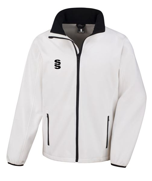 Image sur White Softshell Full Zip Jacket - Suitable for Umpiring