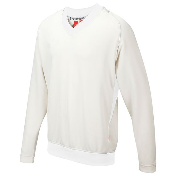 Bild von Curve Long Sleeve  Sweater - White