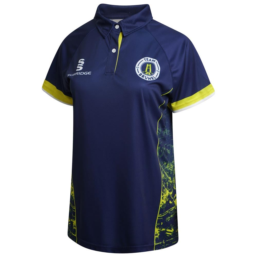 40197eef9b5 Brunel University Women's S/S Cricket Shirt with Placket Collar