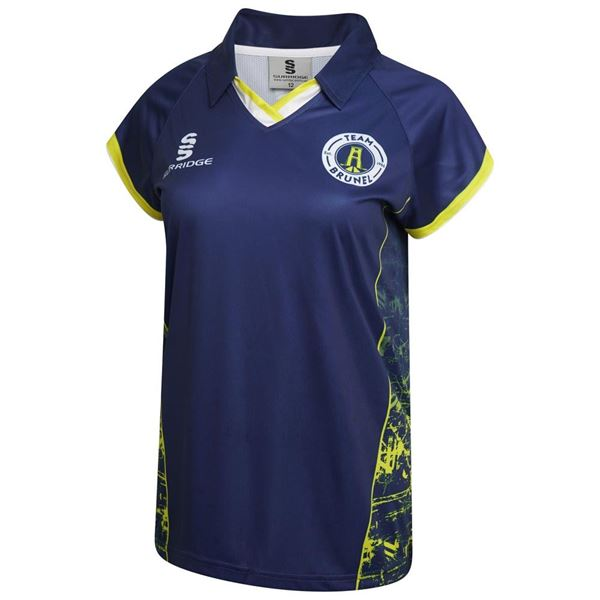 Image sur Brunel University Women's V Neck Capped Sleeved Volleyball Shirt
