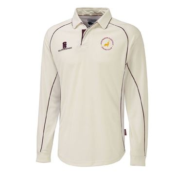 Imagen de Huntingdon District CC Premier Long Sleeve Maroon Trim Shirt