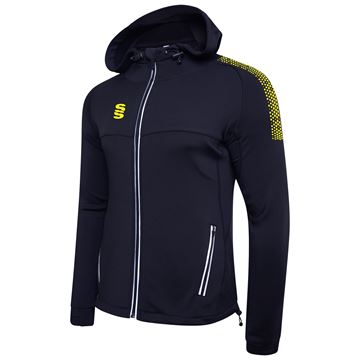 Picture of Dual Full Zip Hoody - Navy/Yellow