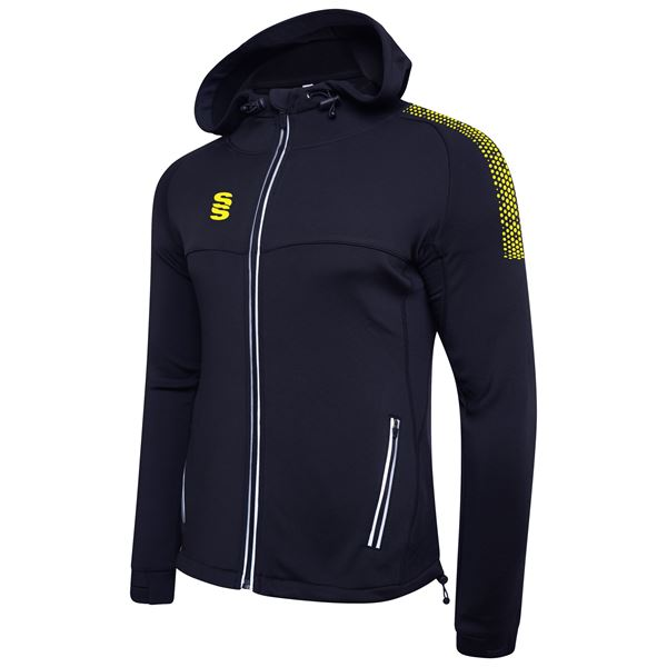 Bild von Dual Full Zip Hoody - Navy/Yellow