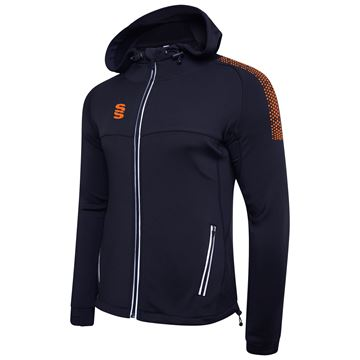 Imagen de Dual Full Zip Hoody - Navy/Orange